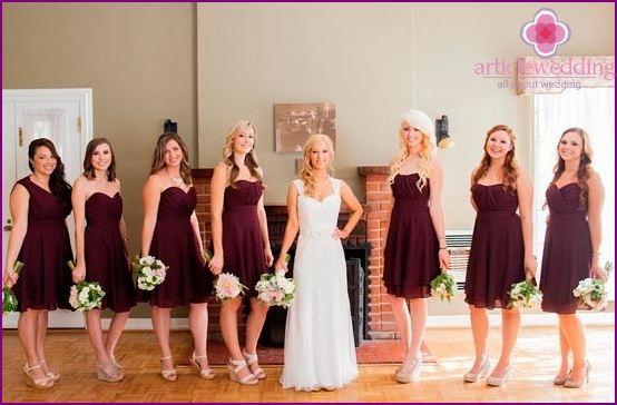 How to choose dresses for bridesmaids