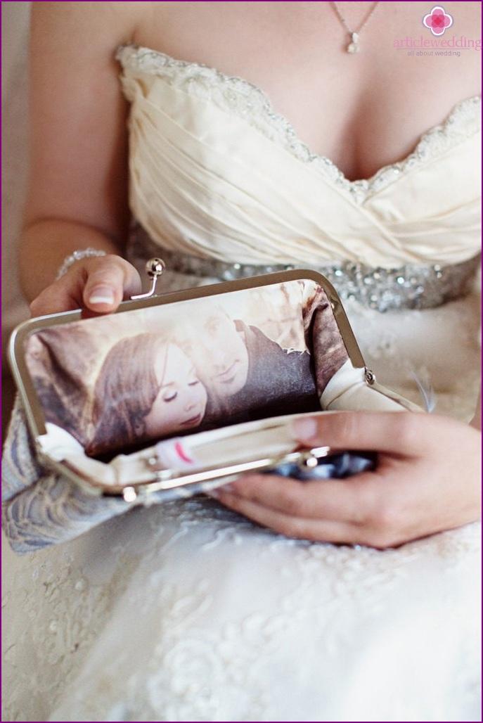 Stylish handbag with photo