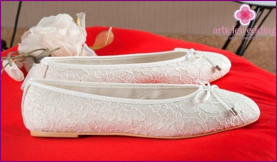 Ballet shoes for the wedding