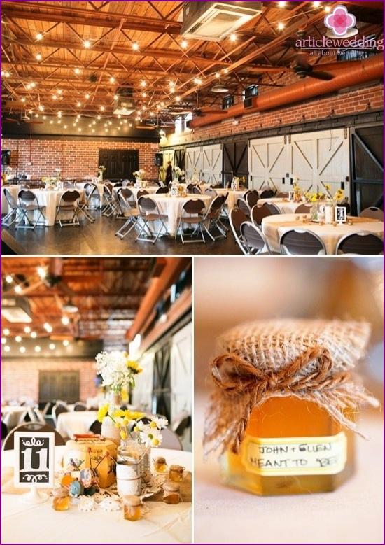 Honey Wedding Decor