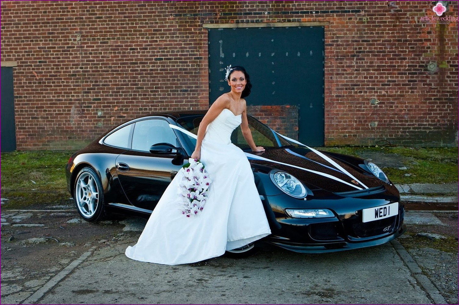 Black car for a wedding