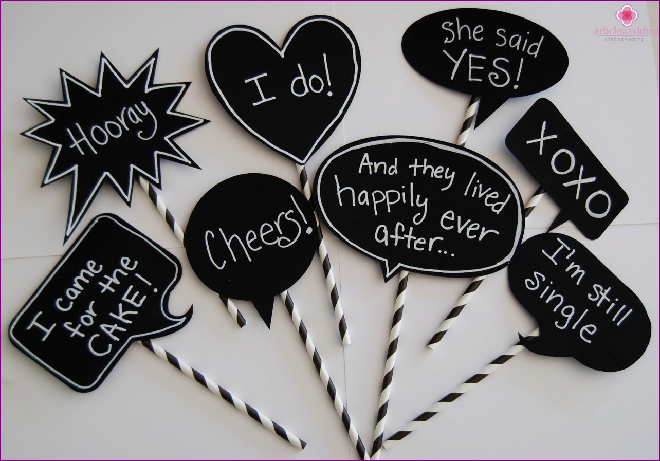 Chalky wedding photo zone accessories
