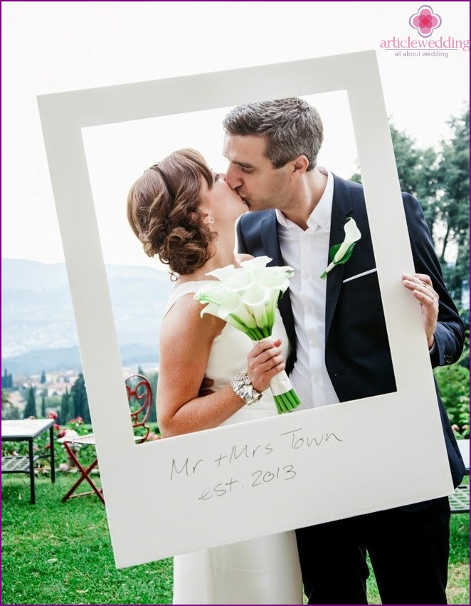 Frames for the wedding photo zone