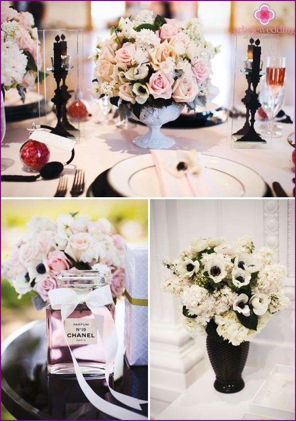 Chanel floral wedding decor