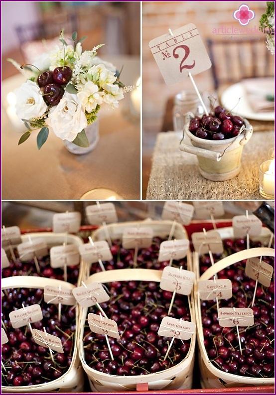 Cherries in a wedding decor
