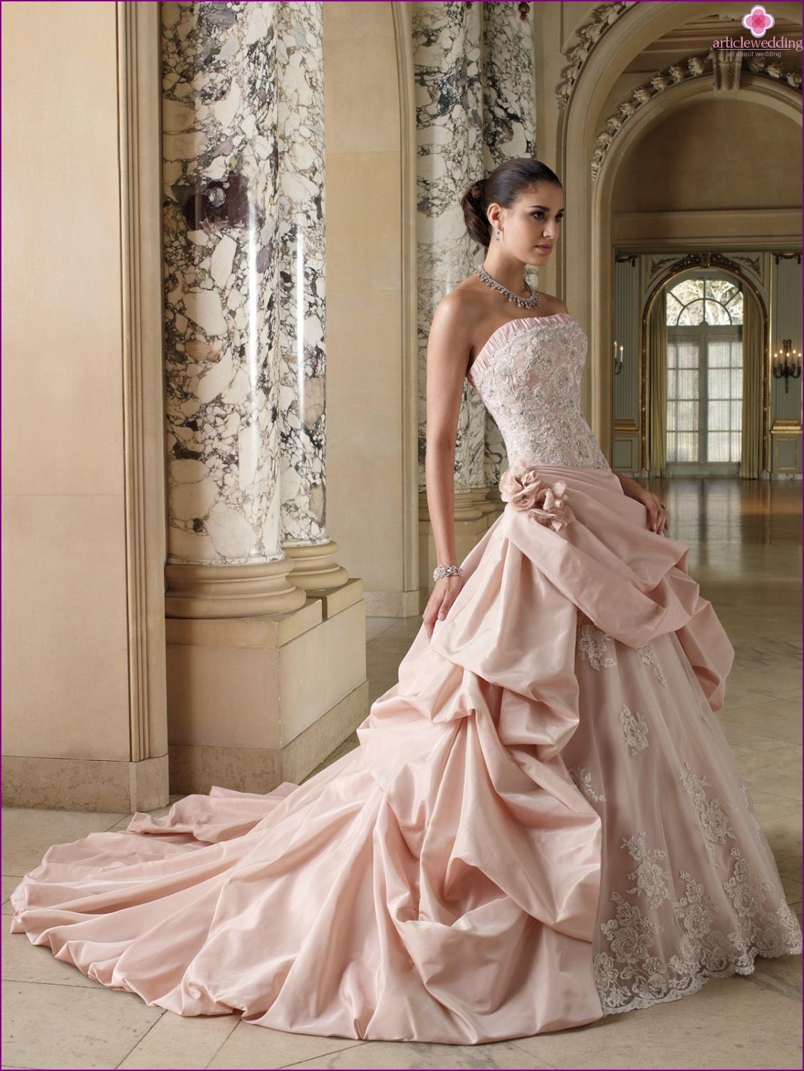 Color wedding dress