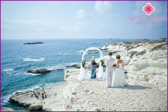 Wedding ceremony on the seashore