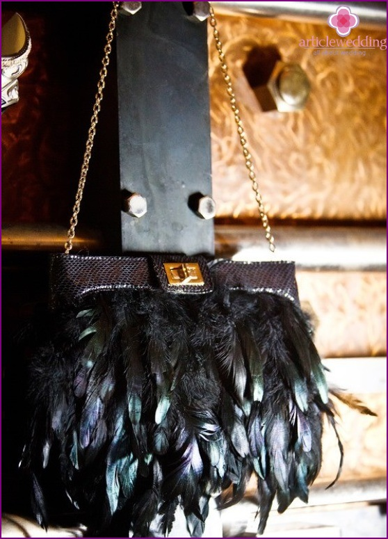 Handbag for the bride according to the film Maleficent