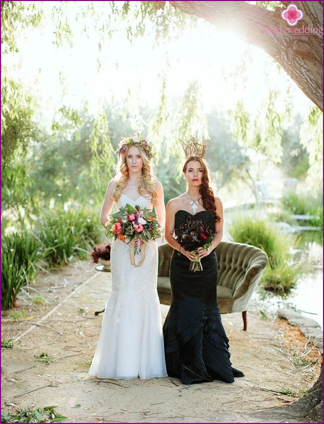 Two images of brides