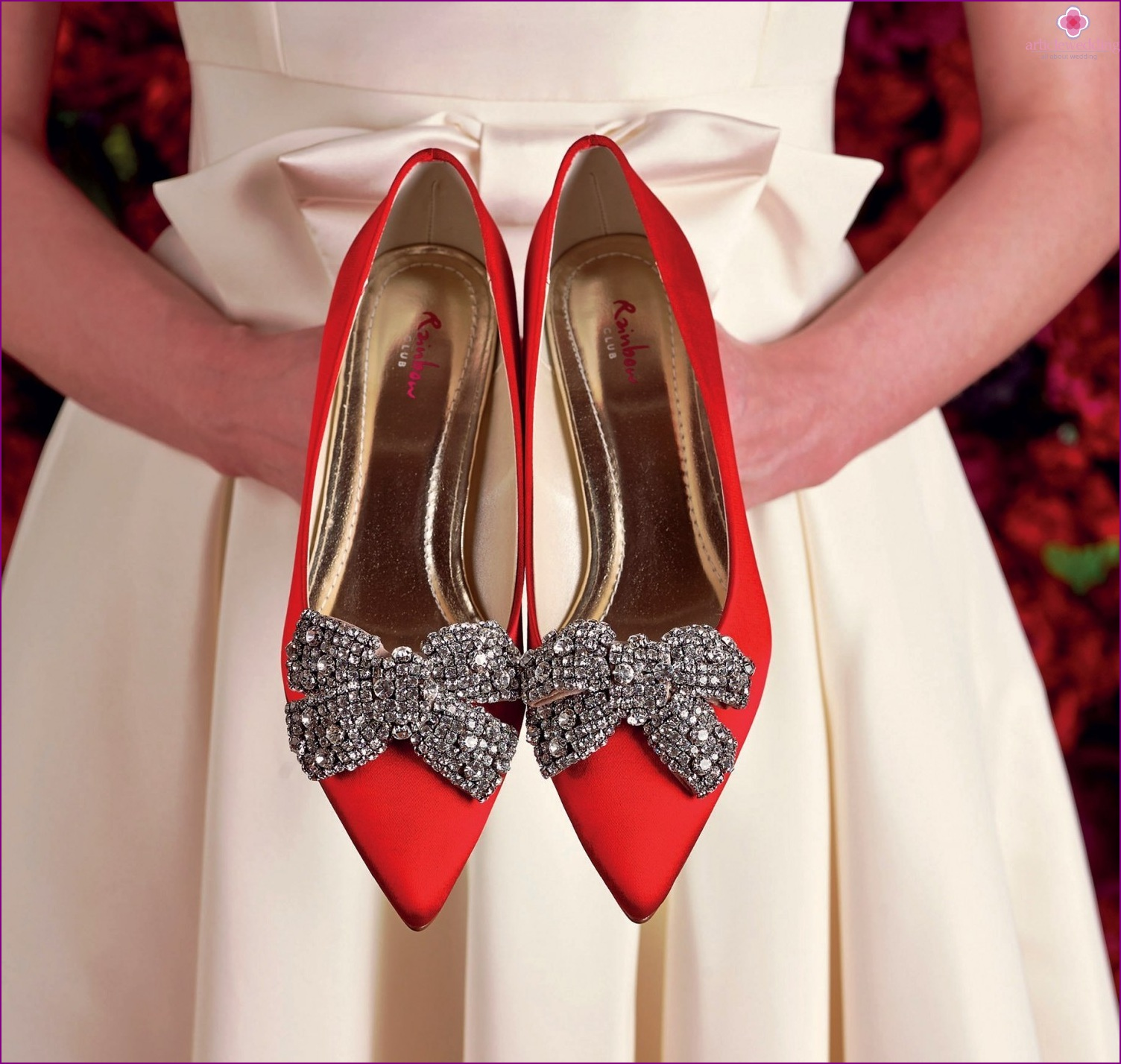 Colored wedding shoes