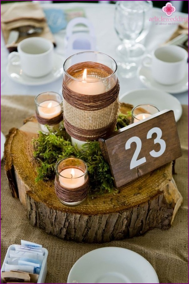 Number for the table