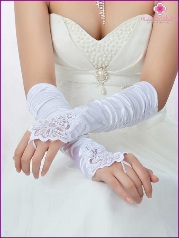 Long wedding gloves