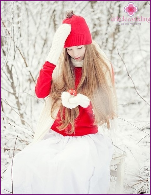 The image of a winter bride