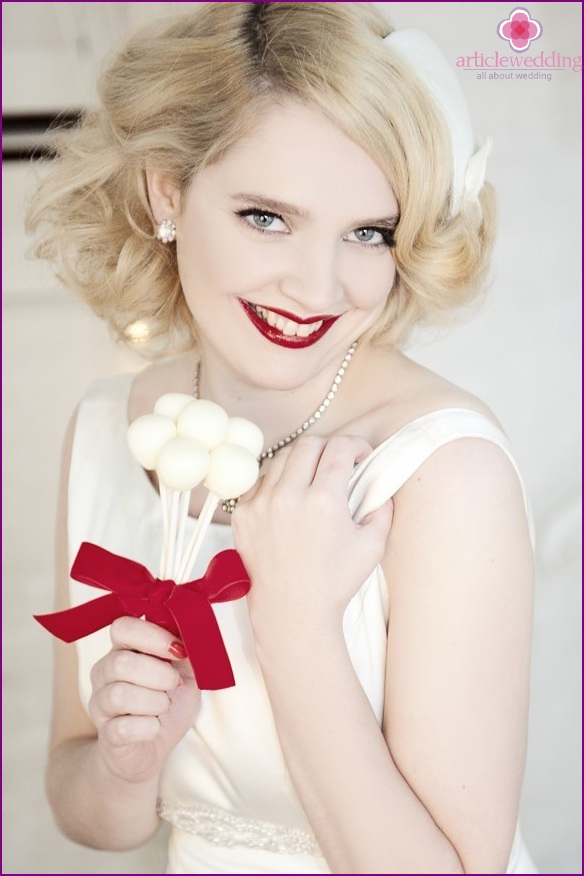 The bride in red and white style