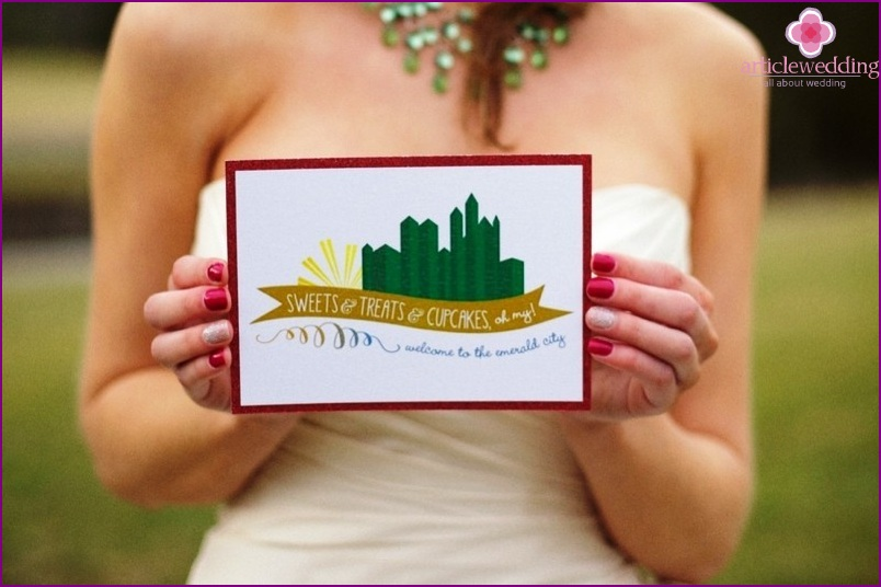 Invitations in the style of the Wizard of the Emerald City