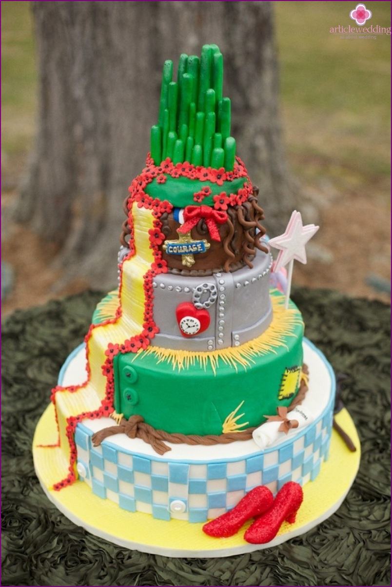Cake in the style of the Wizard of the Emerald City