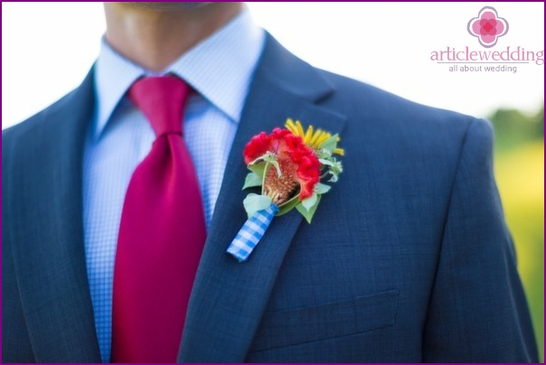 Buttonhole in the style of the Wizard of the Emerald City