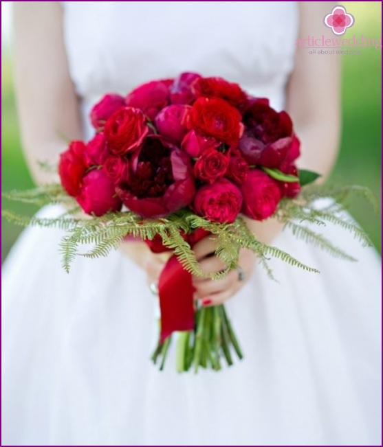 Bridal bouquet in the style of the Wizard of the Emerald City
