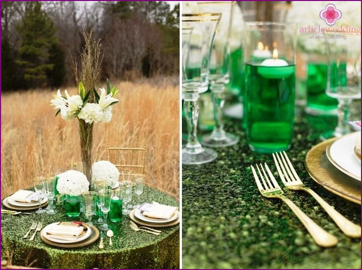 Decor in the style of the Wizard of the Emerald City