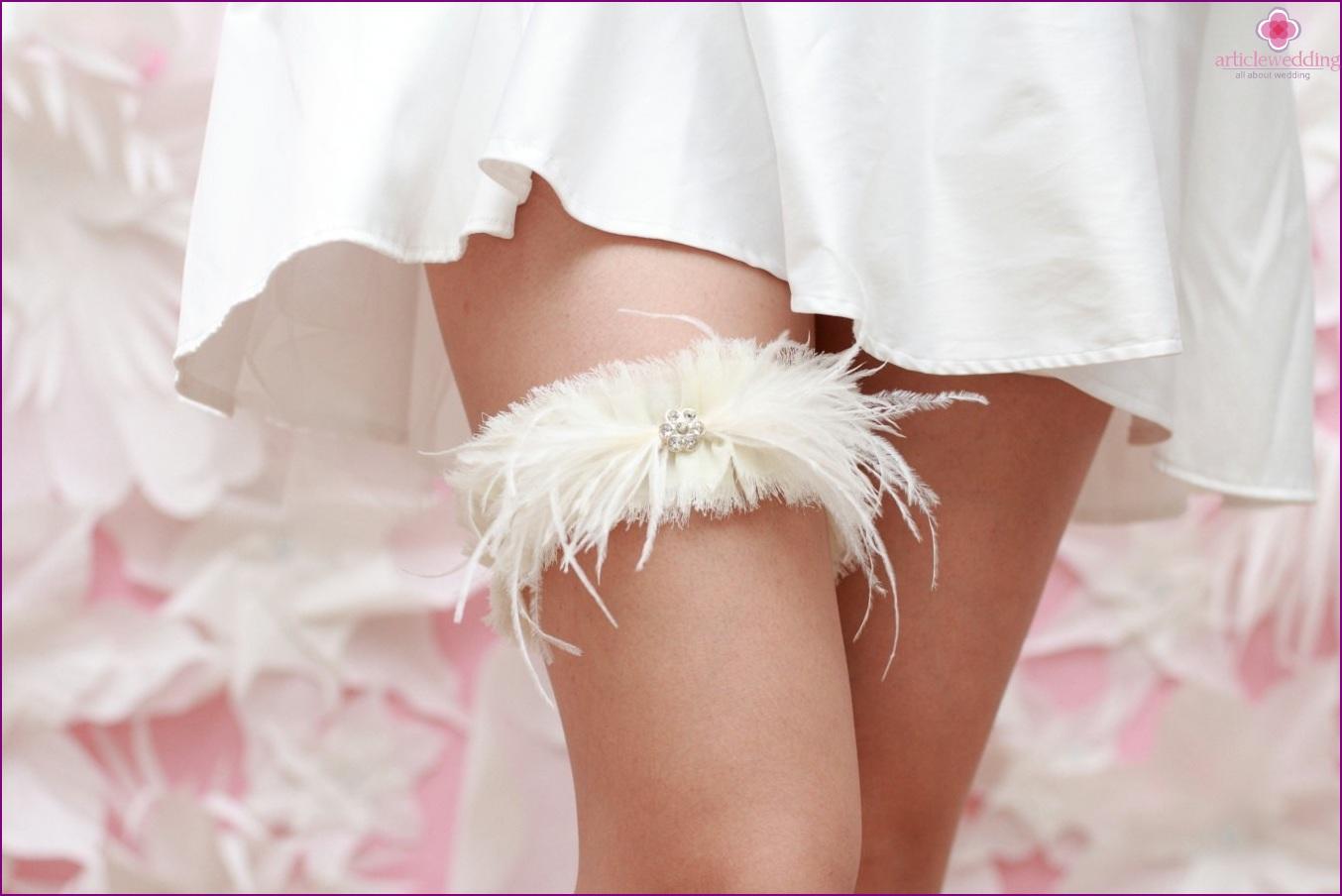 Feather Bride Garter