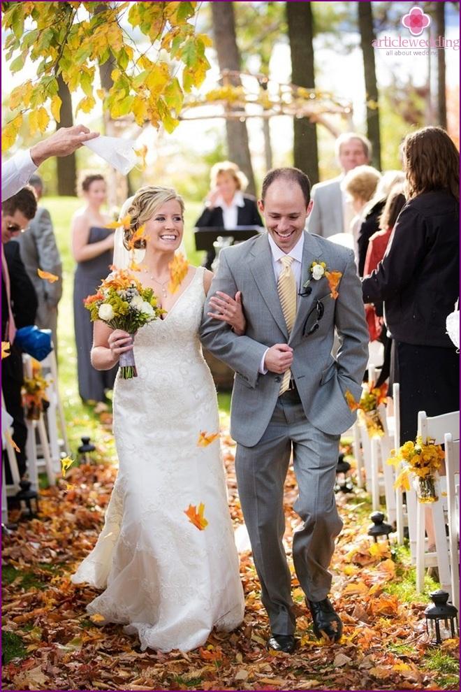 Autumn newlyweds