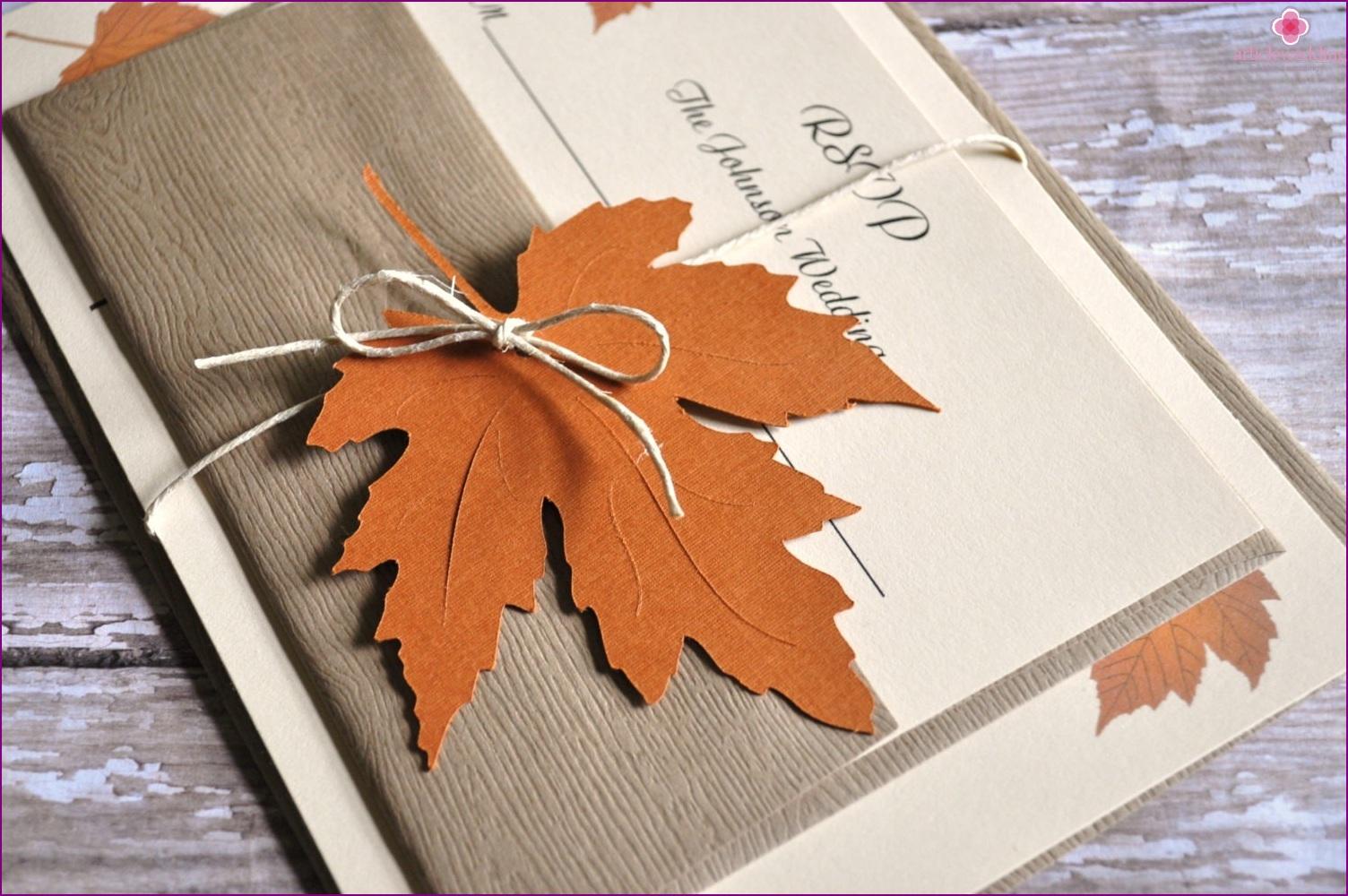 Autumn invitation