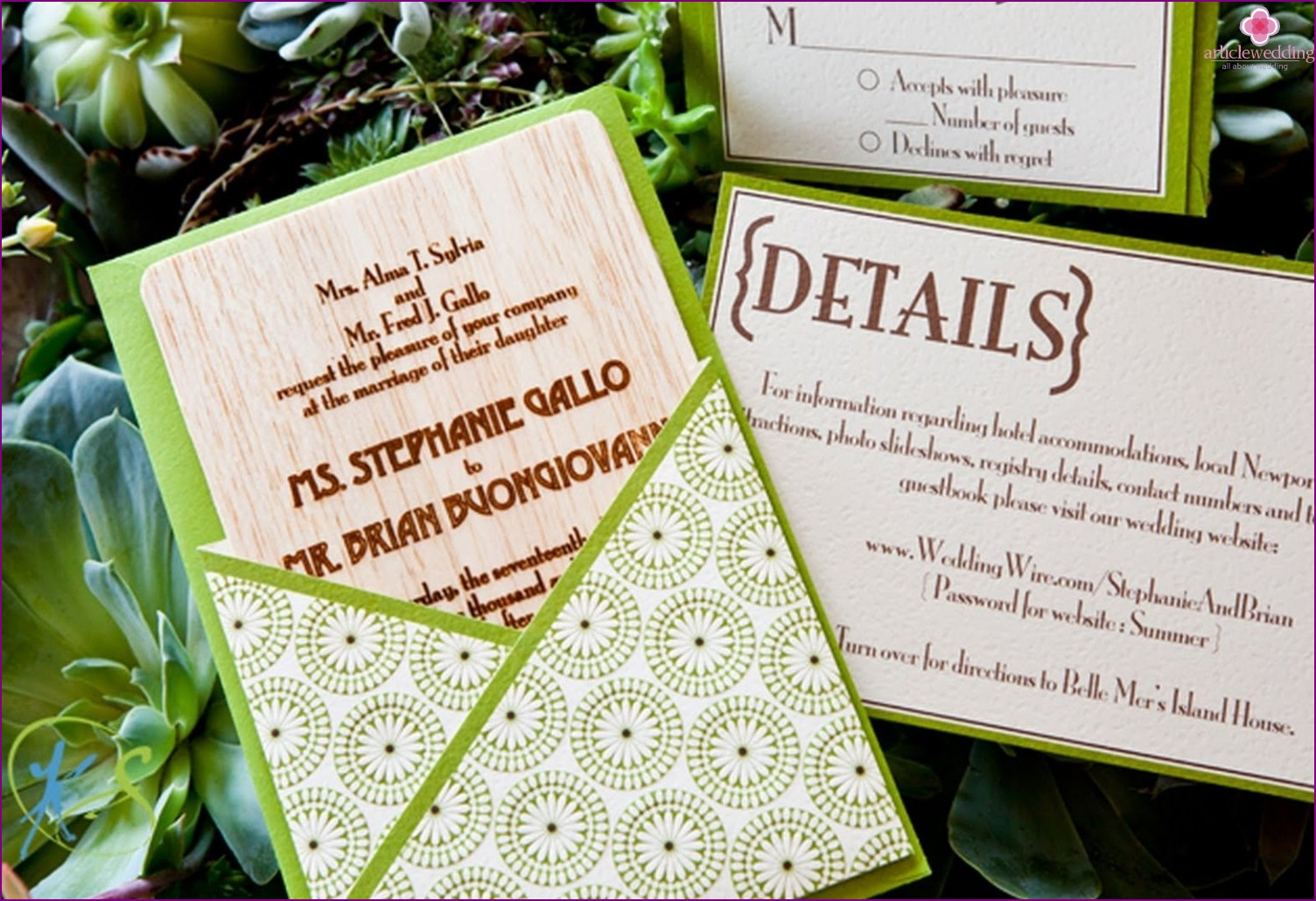 Eco Style Invitations
