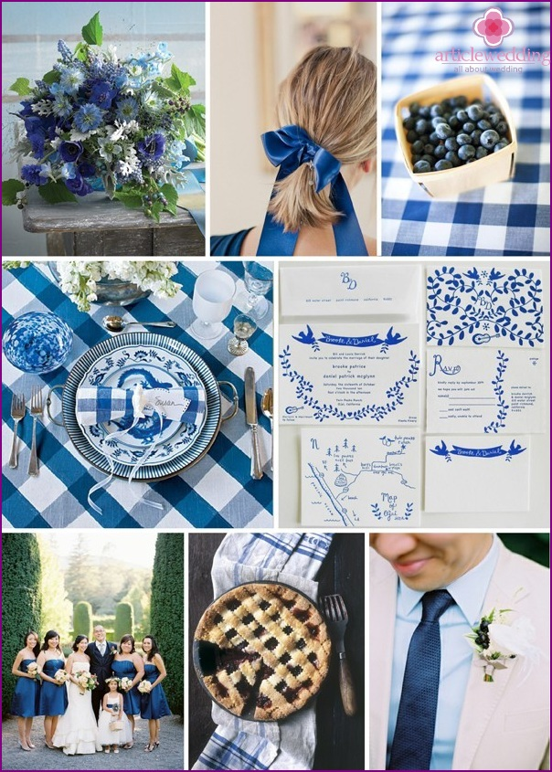 Blueberry wedding in detail