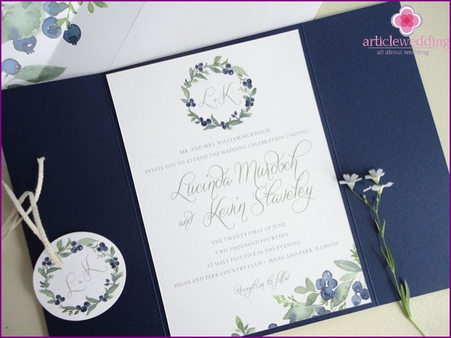 Invitations in envelopes