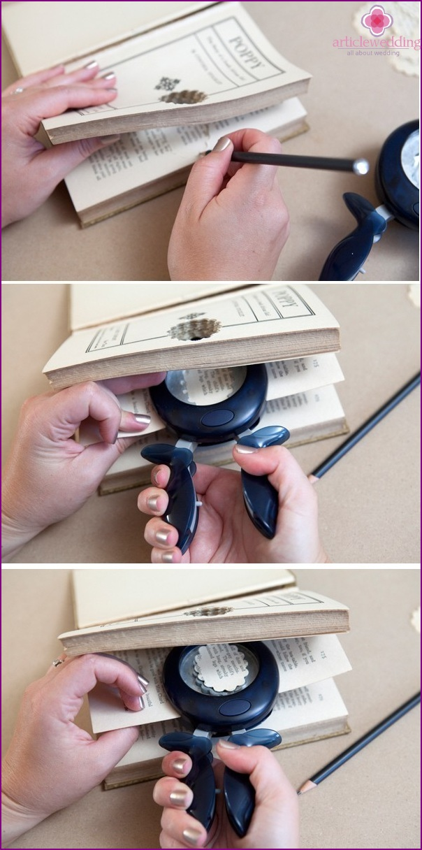 Making a deep dimple in a book
