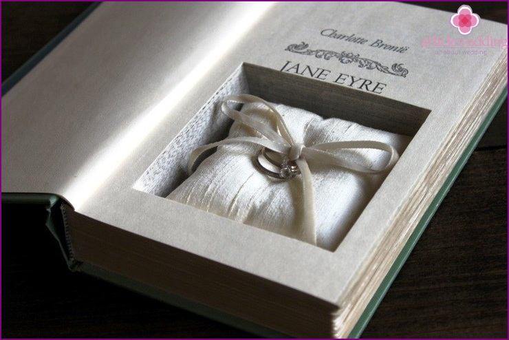 Rings inside a book