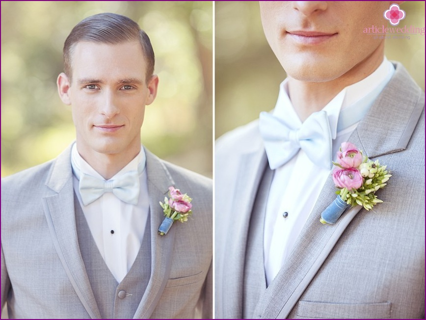 The image of the groom in the style of a fairy tale Cinderella