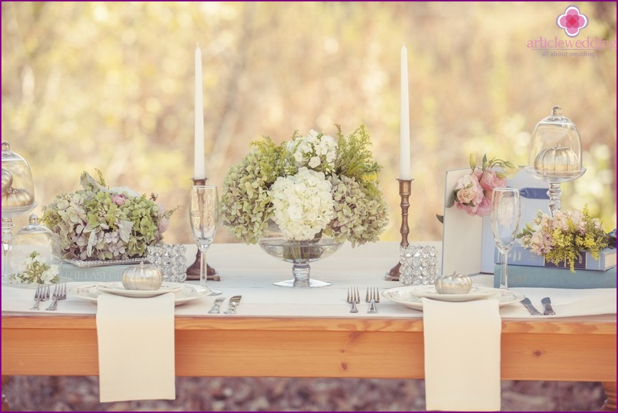 Decor in the style of a fairy tale Cinderella