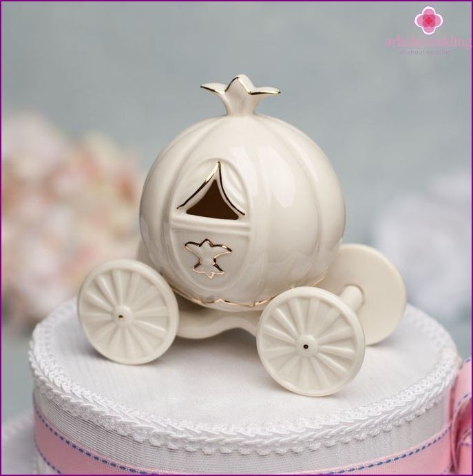 Cake topper in the style of a fairy tale Cinderella