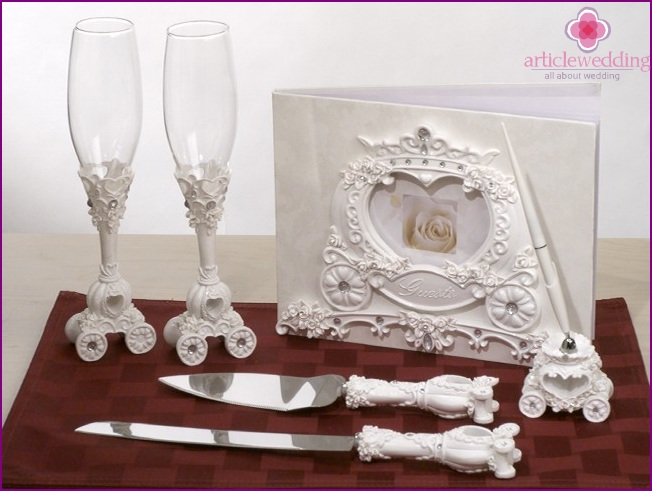 Accessories in the style of a fairy tale Cinderella