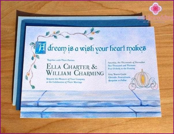 Fairytale Cinderella style invitation