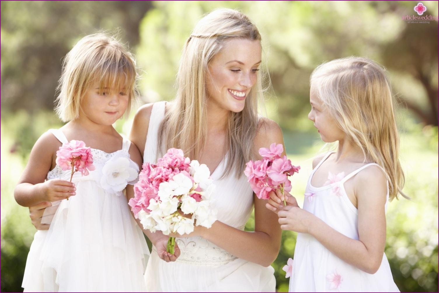 Children at the wedding