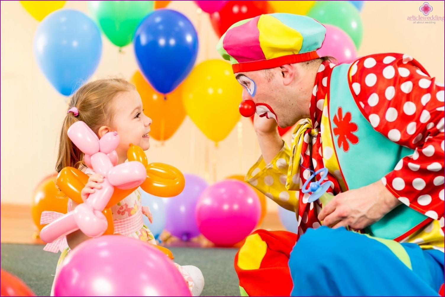 Clown at the wedding