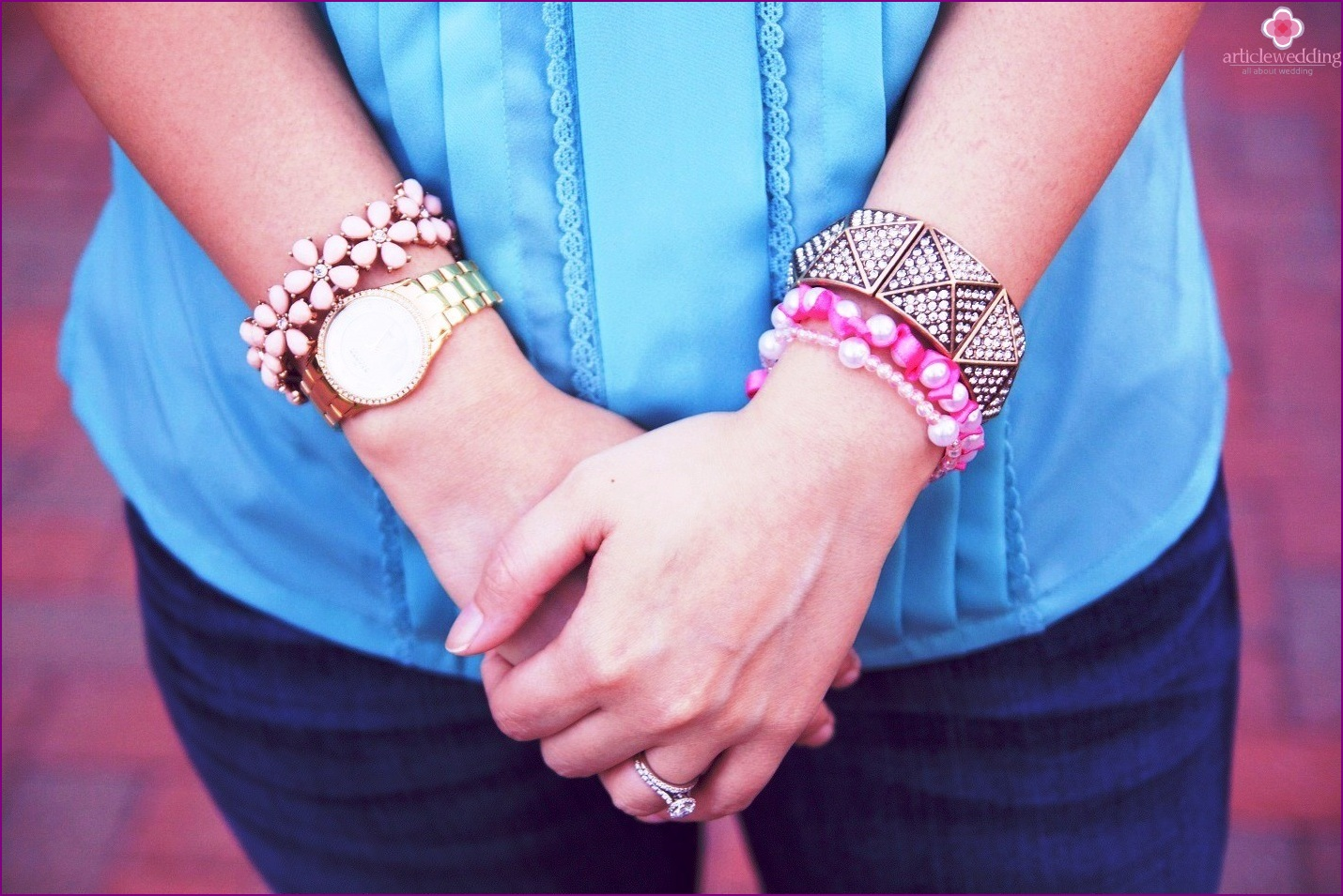 Unusual bright bracelet