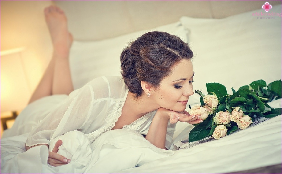 Bride photoshoot at home