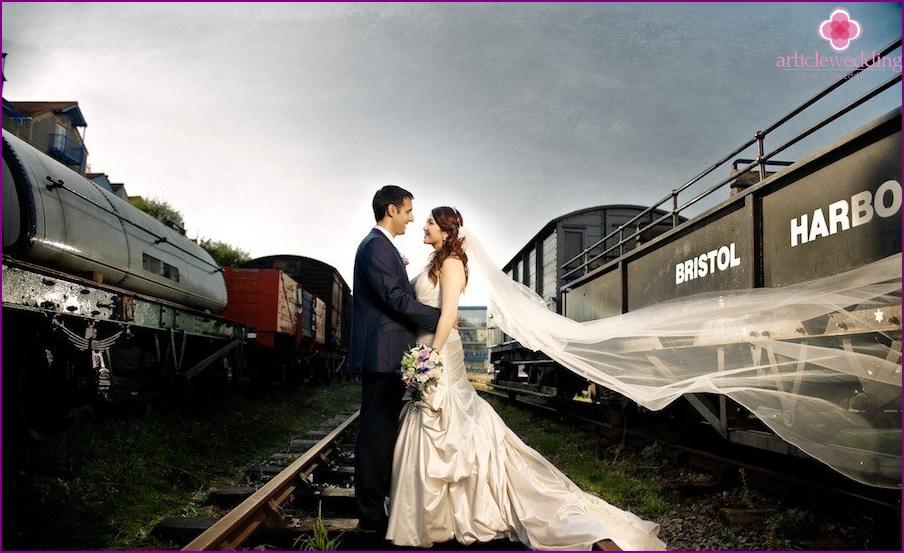 Photoshoot on the railway