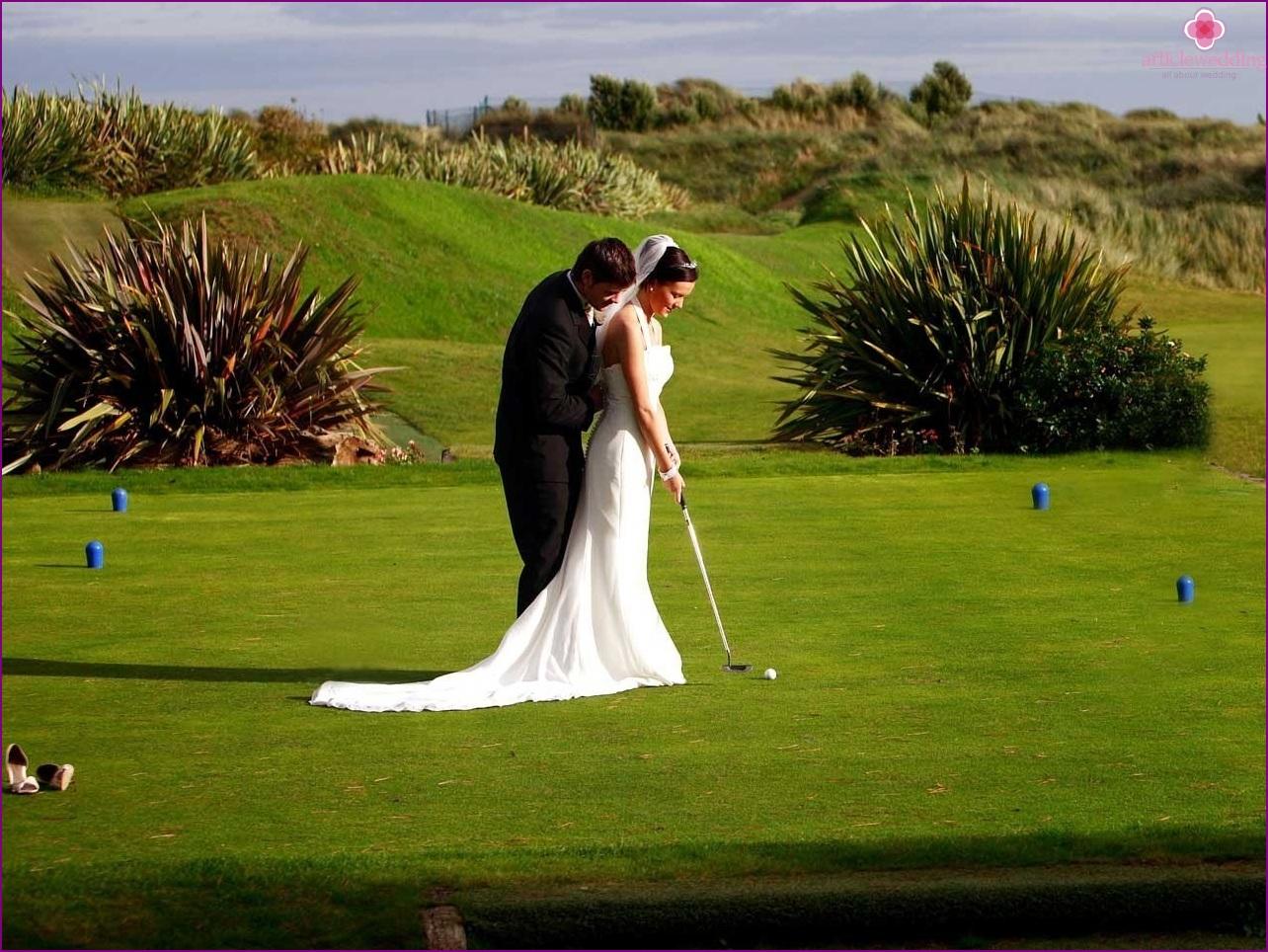 Golf club photo shoot