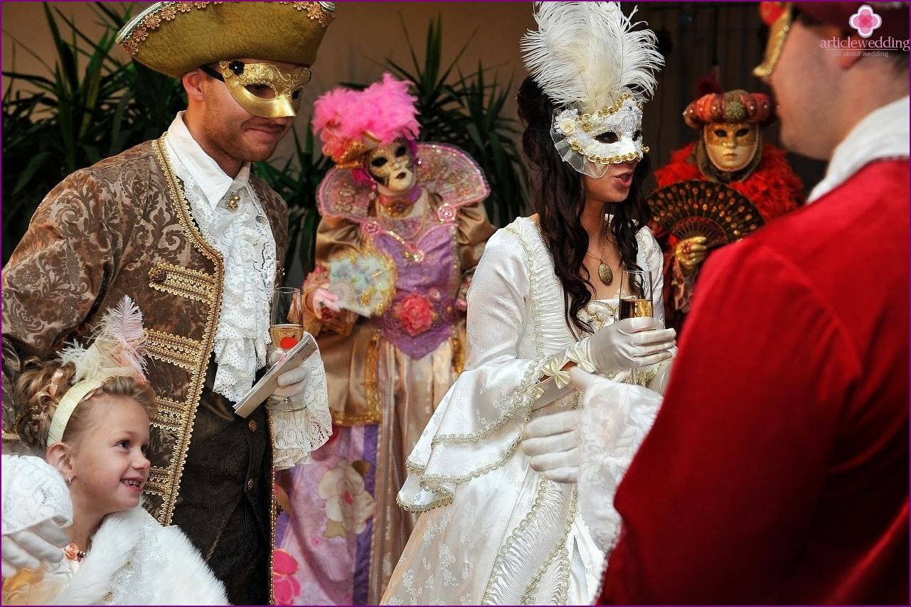 Masquerade style wedding