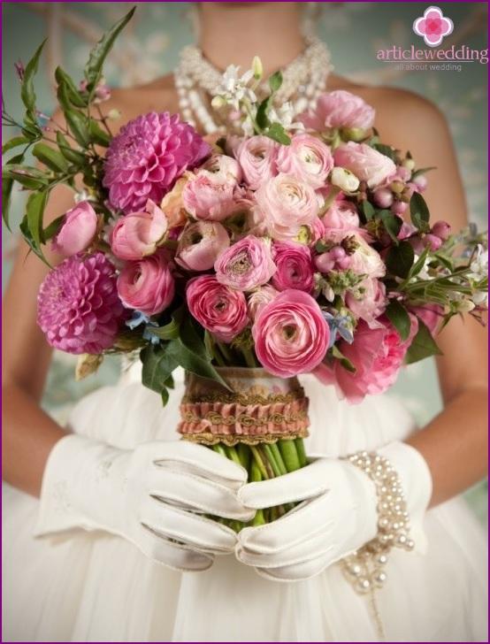 Rococo bride's bouquet