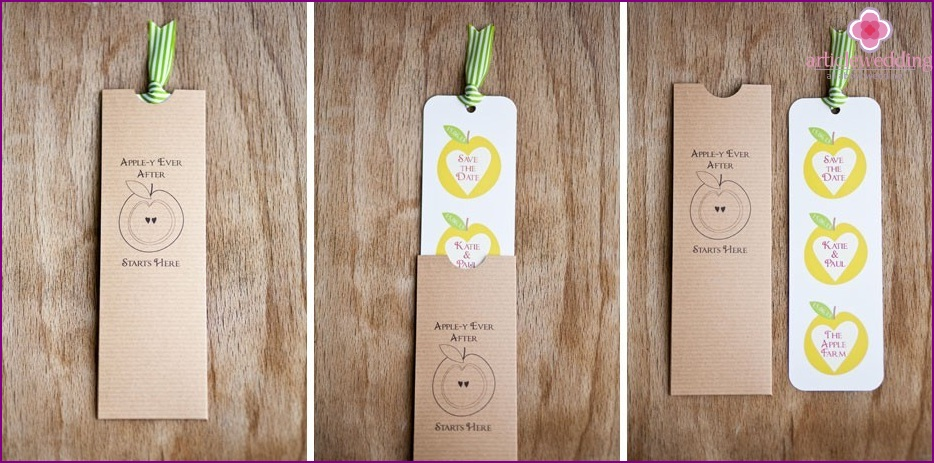 Invitations with apples