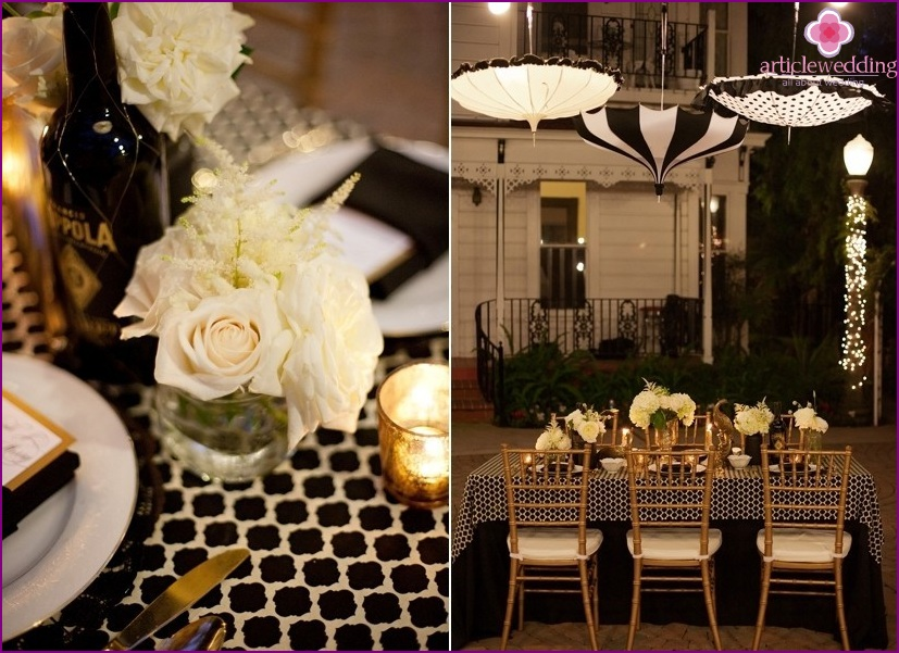 Hollywood style wedding decor