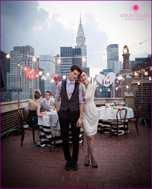 Wedding style movie 500 days of summer