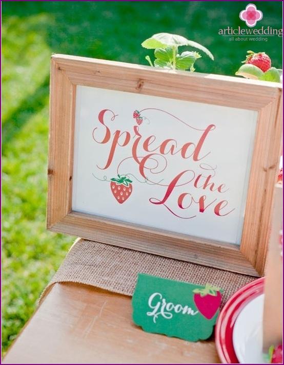 Strawberry Wedding Decor