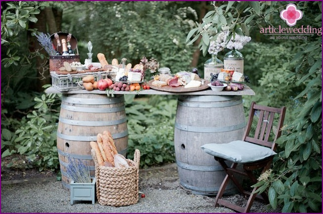 Provence style candy bar