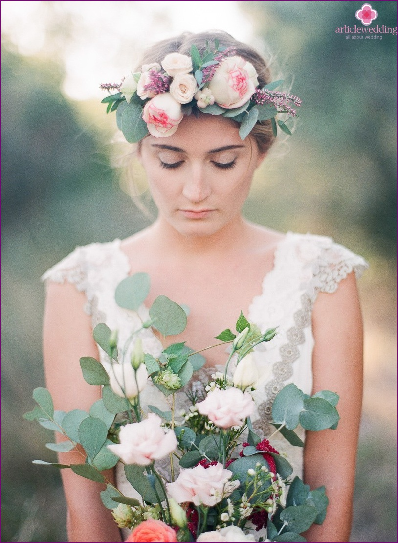 Provence style bride
